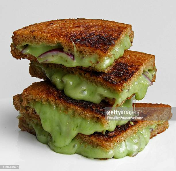Grilled wasabi cheese sandwich