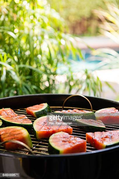 grilled watermelon - watermelon stock pictures, royalty-free photos & images