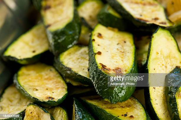 grilled zucchini closeup - zucchini stock pictures, royalty-free photos & images