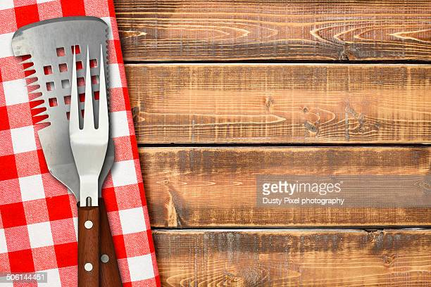 grilling tools - picnic table stock pictures, royalty-free photos & images