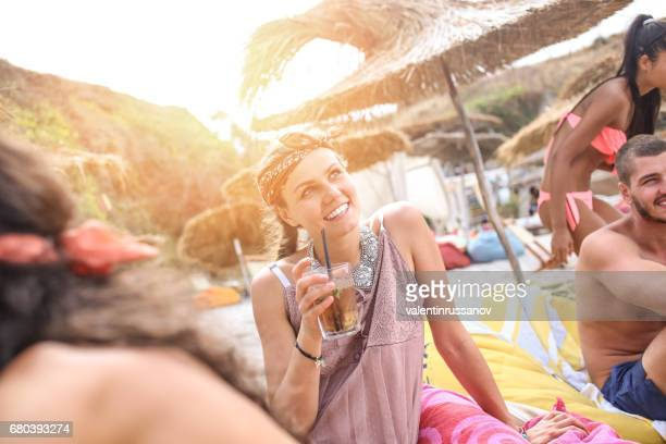 grils having fun on beach - bulgarian girl stock photos and pictures