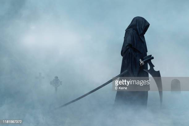 grim reaper - hell stock pictures, royalty-free photos & images