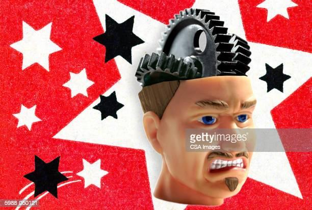 Grimacing Gearhead Man