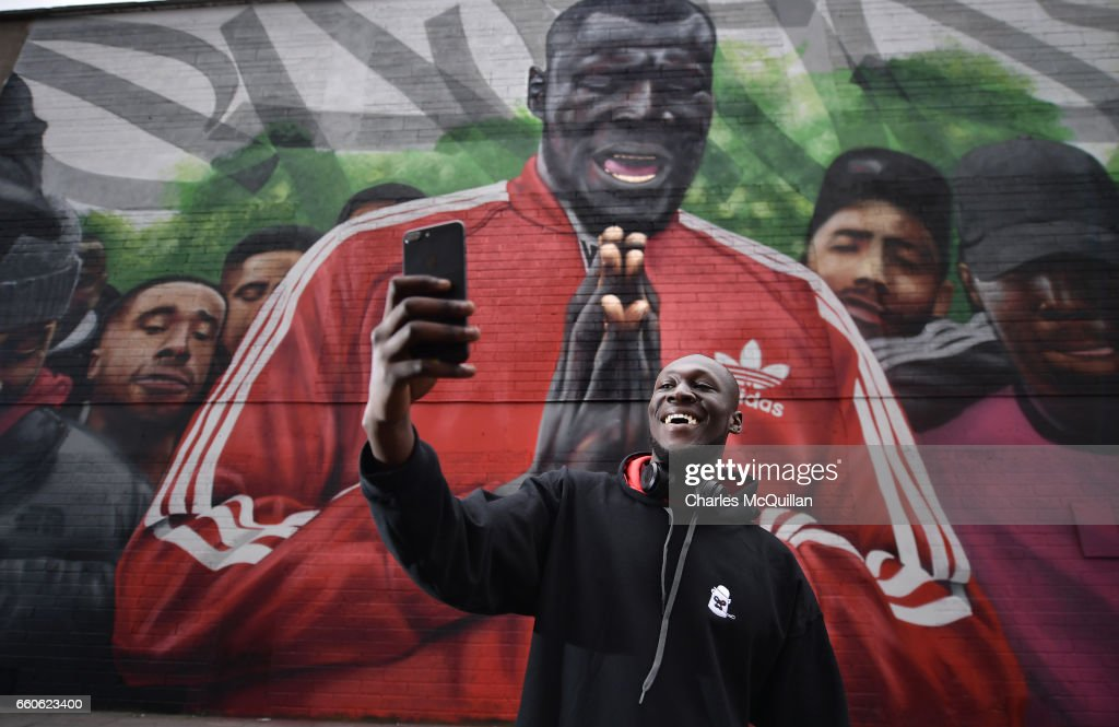 Stormzy Visits Mural Of Himself