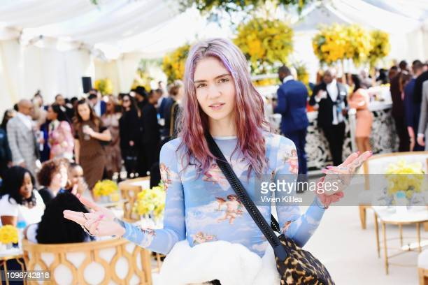 Grimes attends 2019 Roc Nation THE BRUNCH on February 9 2019 in Los Angeles California