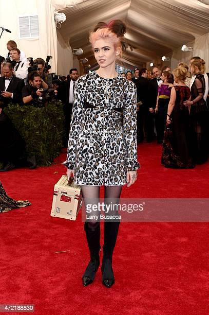 Grimes attends the 'China Through The Looking Glass' Costume Institute Benefit Gala at the Metropolitan Museum of Art on May 4 2015 in New York City