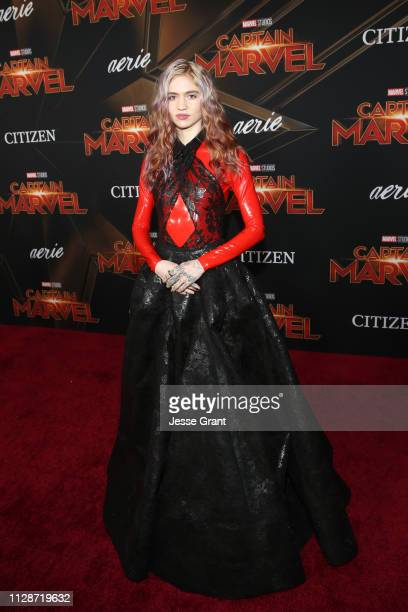 Grimes attends the Los Angeles World Premiere of Marvel Studios' Captain Marvel at Dolby Theatre on March 4 2019 in Hollywood California