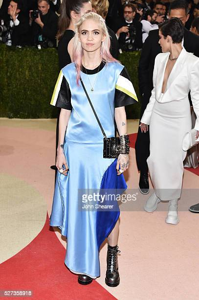 Grimes attends the 'Manus x Machina Fashion In An Age Of Technology' Costume Institute Gala at Metropolitan Museum of Art on May 2 2016 in New York...