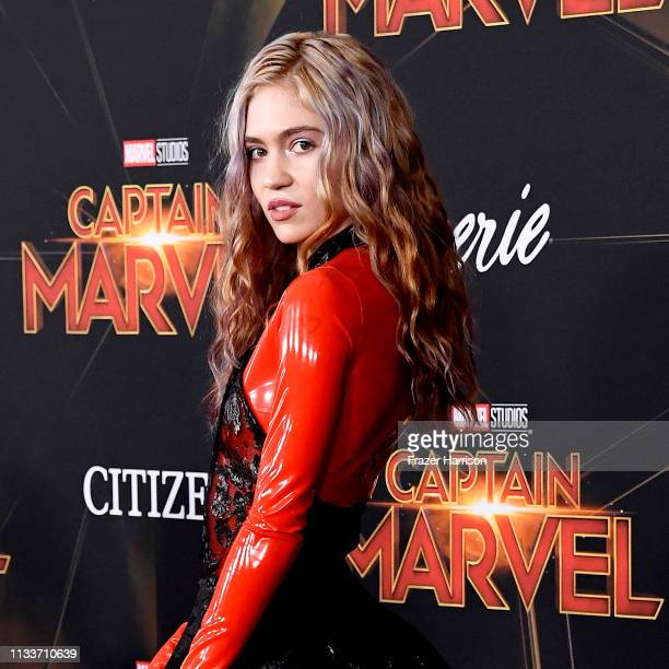 Grimes attends the Marvel Studios Captain Marvel premiere on March 04 2019 in Hollywood California