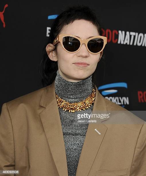 Grimes attends the Roc Nation Grammy brunch on February 7 2015 in Beverly Hills California