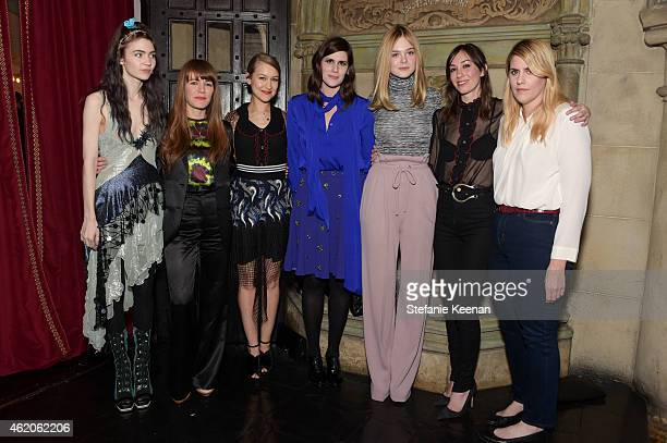 Grimes Jenny Lewis Joanna Newsom Laura Mulleavy Elle Fanning Gia Coppola and Kate Mulleavy attend Rodarte x Superga Dinner Hosted By Gia Coppola at...