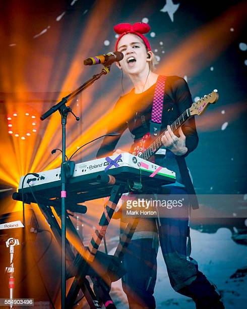 Grimes performs on Day 3 of the Osheaga Music and Art Festival at Parc JeanDrapeau on July 31 2016 in Montreal Canada