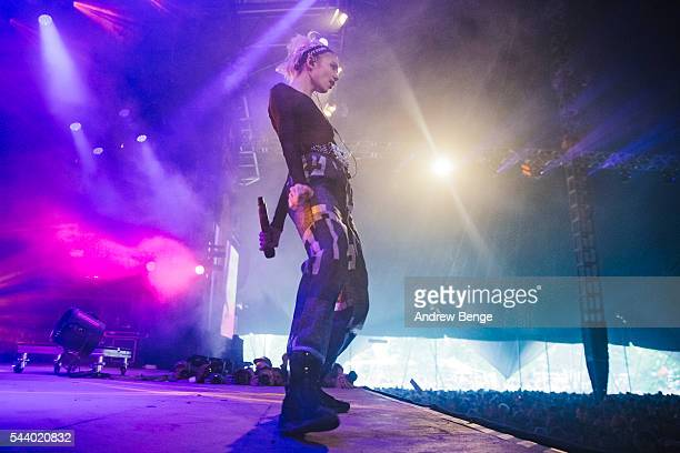 Grimes performs on the Arena stage during Roskilde Festival 2016 on June 30, 2016 in Roskilde, Denmark.