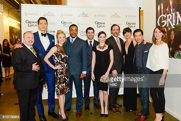 """Grimm Gala"""" -- Pictured: Danny Bruno, Sasha Roiz, Claire Coffee, Russell Hornsby, David Giuntoli, Bitsie Tulloch, Silas Weir Mitchell, Jacqueline..."""