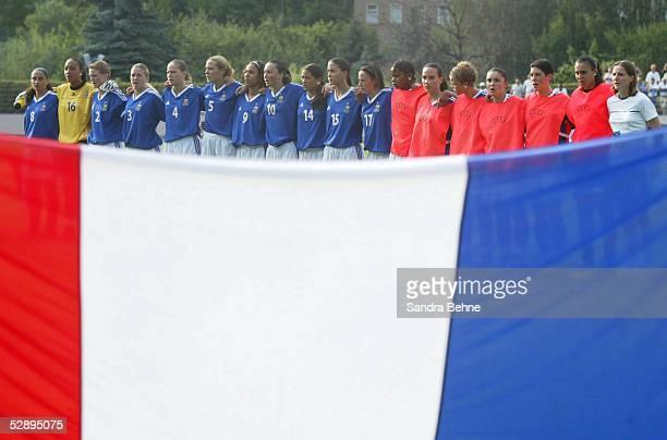 EM 2003 Grimma Norwegen Frankreich Team Frankreich bei der Mannschaftsaufstellung