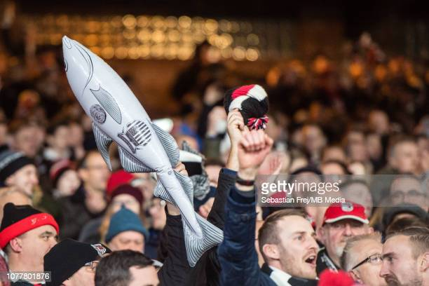 Grimsby Town fans during the FA Cup Third Round match between Crystal Palace FC and Grimsby Town at Selhurst Park on January 5 2019 in London United...