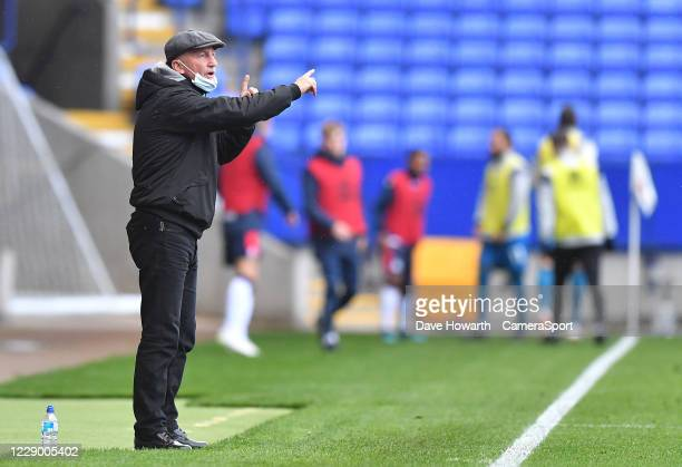 Grimsby Town's Manager Ian Holloway during the Sky Bet League Two match between Bolton Wanderers and Grimsby Town at University of Bolton Stadium on...
