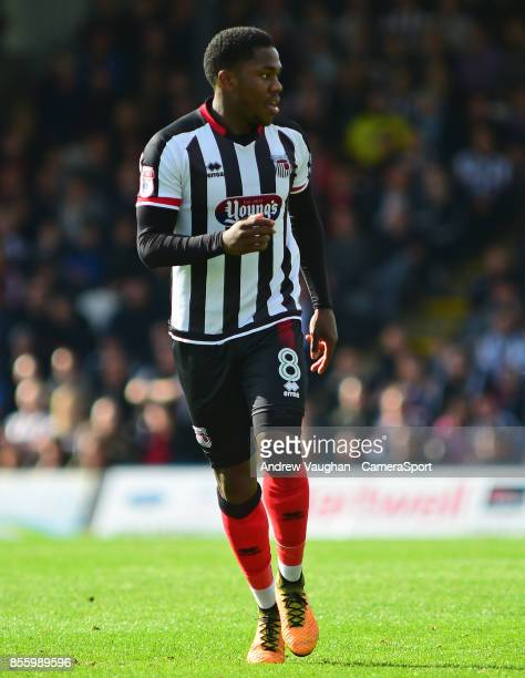 Grimsby Town's Mitch Rose during the Sky Bet League Two match between Grimsby Town and Lincoln City at Blundell Park on September 30 2017 in Grimsby...