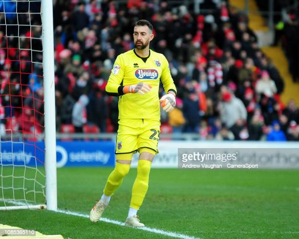 Grimsby Town's Sam Russell during the Sky Bet League Two match between Lincoln City and Grimsby Town at Sincil Bank Stadium on January 19 2019 in...