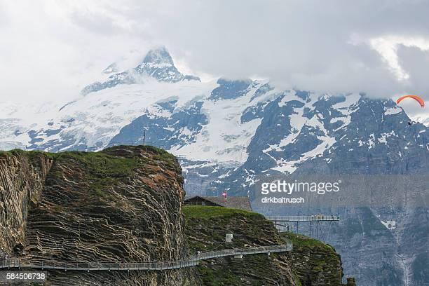 Grindelwald First peak with cliff walk