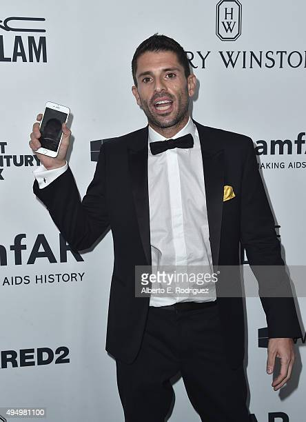 Grindr Founder CEO Joel Simkhai attends amfAR's Inspiration Gala Los Angeles at Milk Studios on October 29 2015 in Hollywood California
