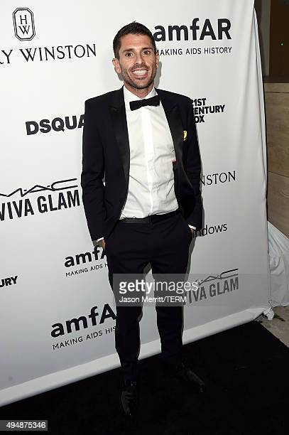 Grindr Joel Simkhai attends amfAR's Inspiration Gala Los Angeles at Milk Studios on October 29 2015 in Hollywood California
