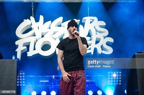 Gringe from Casseurs Flowters performs at Fnac Live Festival on July 19 2014 in Paris France