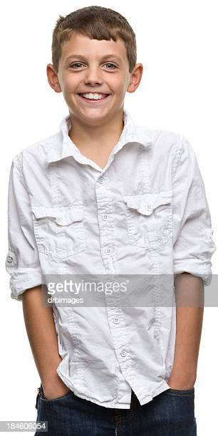 grinning boy - open collar stock photos and pictures