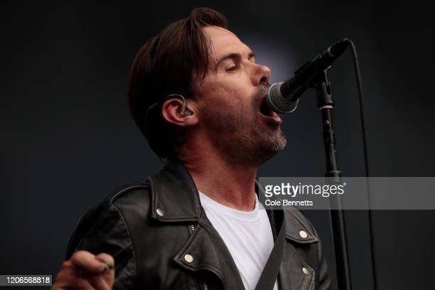 Grinspoon performs during Fire Fight Australia at ANZ Stadium on February 16 2020 in Sydney Australia