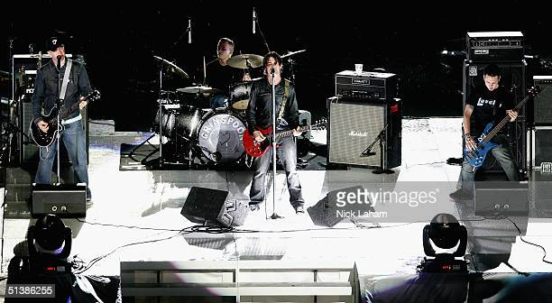Grinspoon performs prior to the NRL Grand Final between the Sydney Roosters and the Bulldogs held at Telstra Stadium October 3 2004 in Sydney...