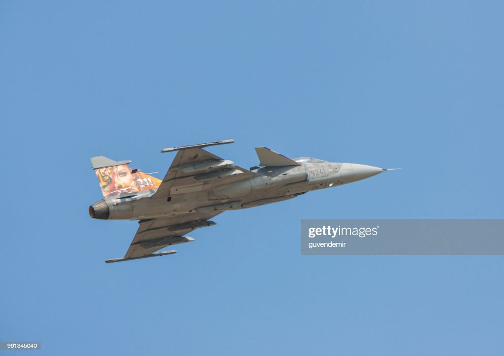 Saab Jas39 Gripen Jet Fighter Stock Photo - Getty Images