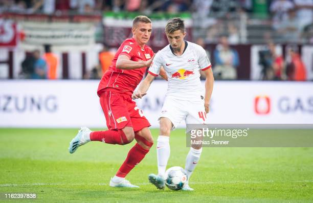 Grischa Proemel of 1FC Union Berlin and Kevin Kampl of RB Leipzig during the bundesliga match between FC Union Berlin against RB Leipzig at Stadion...