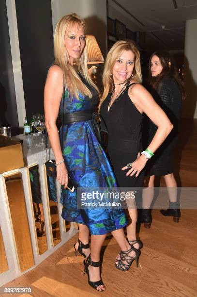 Griselda Lechini and Adriana Ospina attend the Galerie Gmurzynska Dinner in Honor of Jean Pigozzi at the Penthouse at the Faena Hotel Miami Beach on...