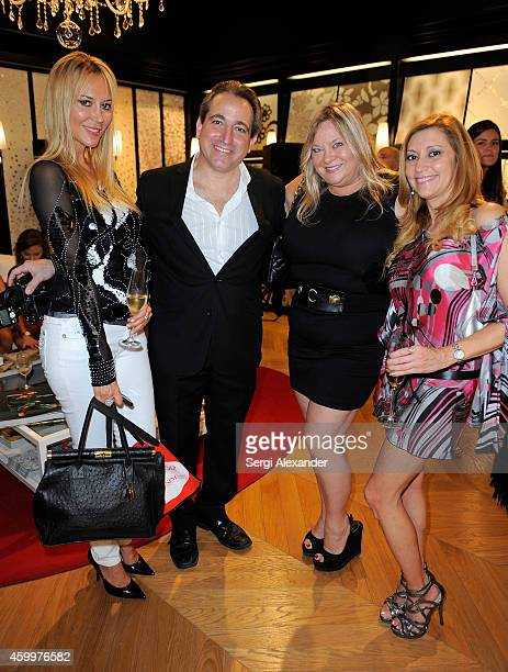 Griselda Lechini David Ramos Christina Hampton and a guest attend the BISAZZA Wears EMILIO PUCCI Cocktail Reception for Miami Art Week on December 4...