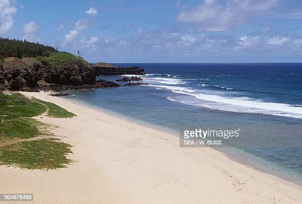 GrisGris cliff and beach near Souillac south coast Mauritius