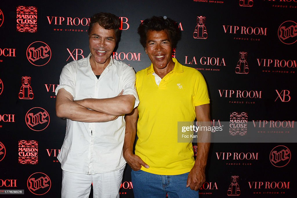 Grishka Bogdanov and Igor Bogdanov attend the VIP Room on August 24, 2013 in Saint Tropez, France.