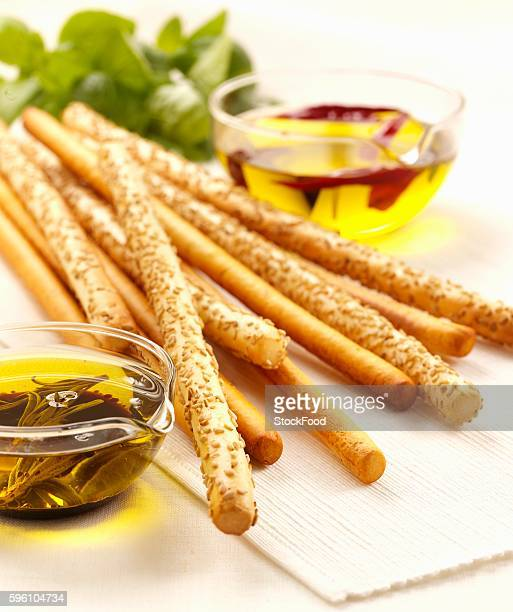 Grissini with olive oil