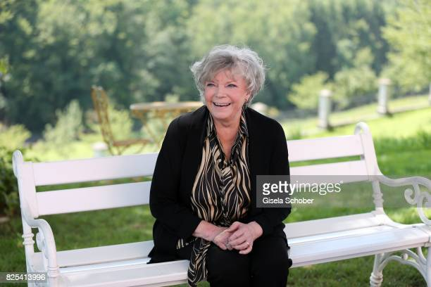 Grit Boettcher during the 'WaPo Bodensee' photo call at Schloss Freudental on August 1, 2017 in Allensbach-Freudental near Konstanz, Germany.