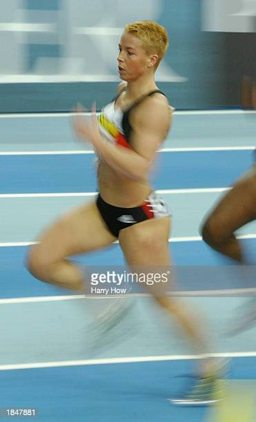 Grit Breuer of Germany in action during the Womens 400m Heats during the 9th IAAF World Indoor Athletics Championships at the National Indoor Arena...