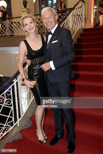 Grit Weiss and Jo Groebel arrive at the GQ Men of the year Award 2016 at Komische Oper on November 10 2016 in Berlin Germany