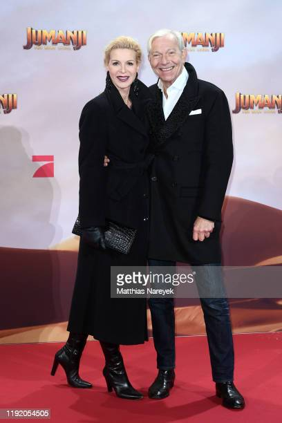 Grit Weiss and Jo Groebel at the Berlin premiere of JUMANJI THE NEXT LEVEL at Sony Center on December 04 2019 in Berlin Germany