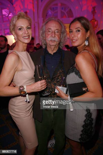 Grit Weiss Jean Puetz and Rebecca Mohnssen attend the Movie Meets Media event 2017 at Hotel Atlantic Kempinski on November 27 2017 in Hamburg Germany