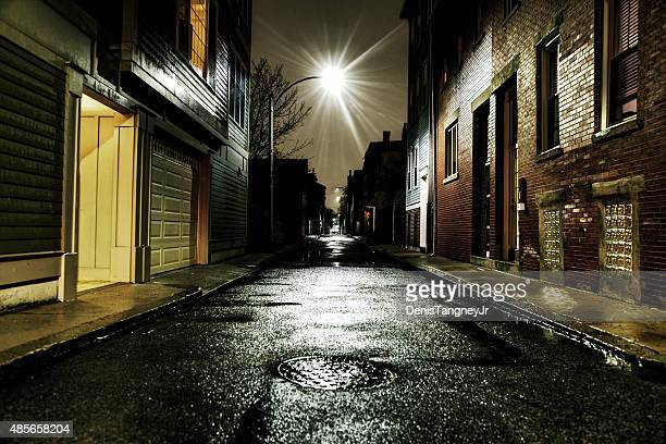 Gritty Urban Street in the Southie Neighborhood of Boston