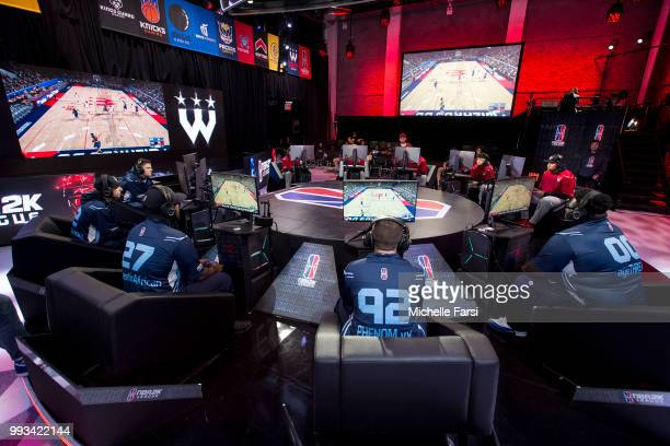 Grizz Gaming takes on the Wizards District Gaming on July 7 2018 at the NBA 2K Studio in Long Island City New York NOTE TO USER User expressly...