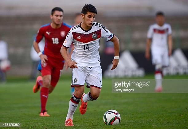Görkem Saglam of Germany U17 in action during the UEFA European Under17 Championship match between Germany U17 and Czech Republic U17 at Beroe...