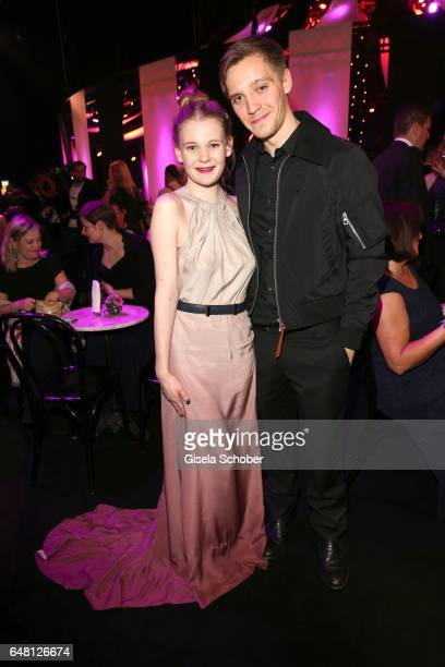 Gro Swantje Kohlhof and Jonas Nay during the Goldene Kamera after show party at Messe Hamburg on March 4 2017 in Hamburg Germany