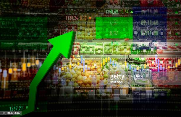 grocer shopping rise - consumerism stock pictures, royalty-free photos & images