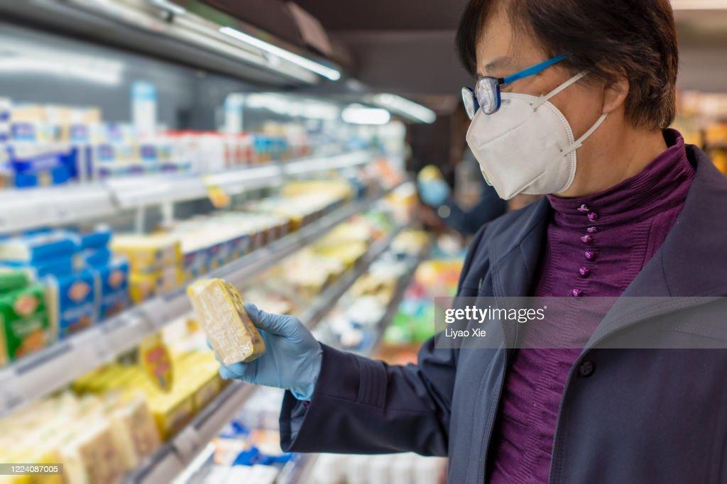 Groceries during coronavirus : Stock Photo