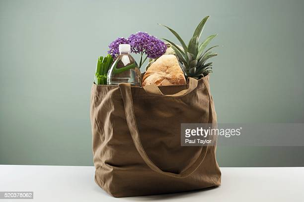 Groceries in Tote Bag