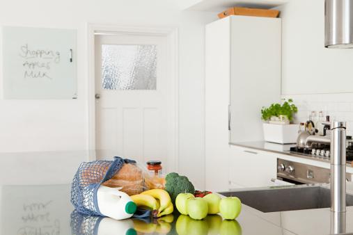 Groceries on kitchen counter - gettyimageskorea